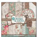Stamperia - Double-Sided 12 x 12 Inch Paper Pack - Roses & Laces